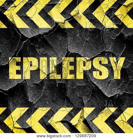 epilepsy, black and yellow rough hazard stripes
