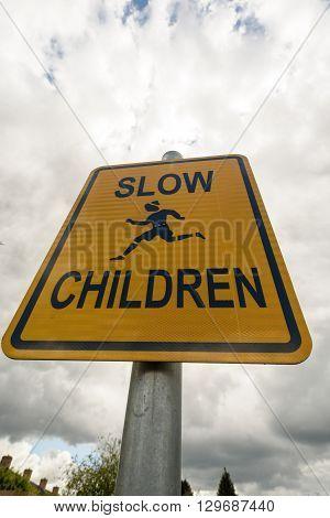 Slow Children Warning Sign
