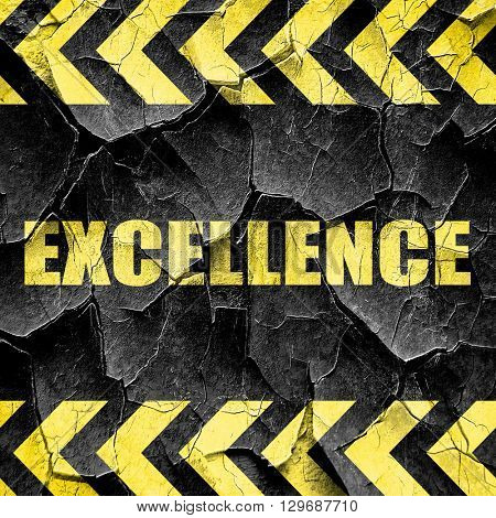 excellence, black and yellow rough hazard stripes