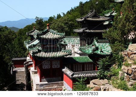 Buddhist temple.The Tower of Buddhist Incense. Beijing. China.