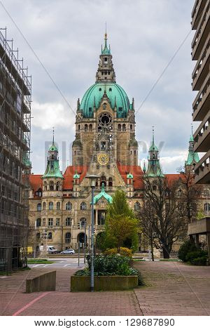 Building of New City Hall in Hannover,  Germany.