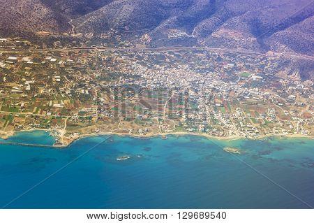 Seaside Of Crete Island, Aerial View, Greece