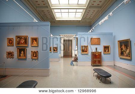 in museum