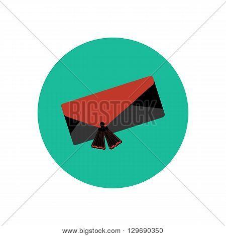 Clutch bag illustration. Handbag illustration. Vector Illustration