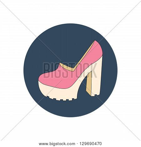 High heels shoes illustration. Woman shoes. Vector illustration