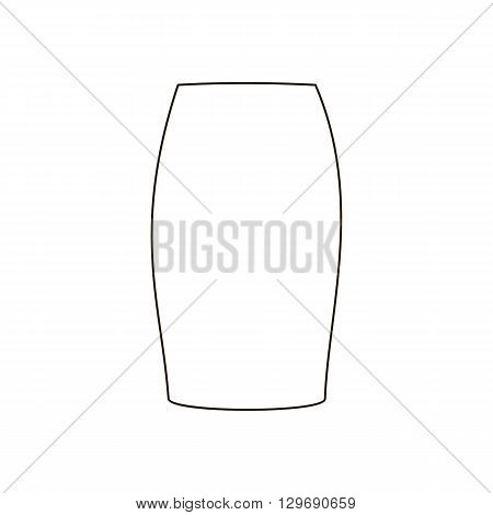 Skirt vector illustration. Long skirt. Tube skirt. Vector illustration