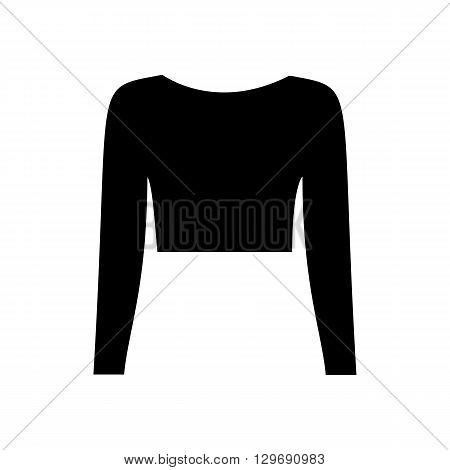 T-shirt top illustration. Woman top illustration. Vector illustration