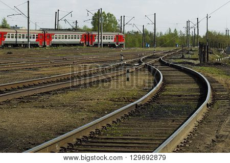 Railroad Tracks Bright Sunny Day