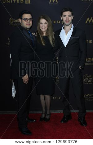 LOS ANGELES - APR 29: Gregory J Martin, Wendy Riche, Kristos Andrews at The 43rd Daytime Creative Arts Emmy Awards at the Westin Bonaventure Hotel on April 29, 2016 in Los Angeles, CA