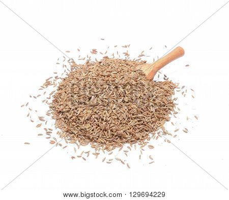 Caraway Seeds Isolated on White Background in studio