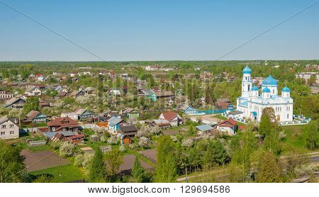 Ancient Russian provincial town of Torzhok in the Tver Region
