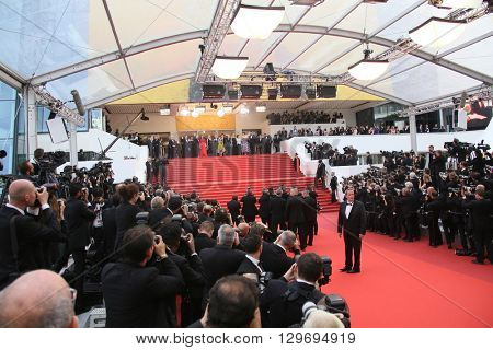 Photographers  attends the screening of 'The BFG' at the annual 69th Cannes Film Festival at Palais des Festivals on May 14, 2016 in Cannes, France.