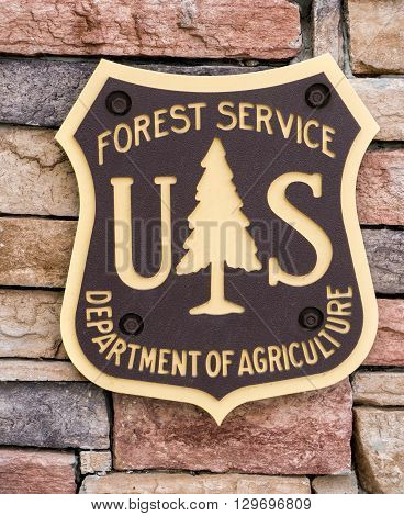United States Forest Service Sign And Logo