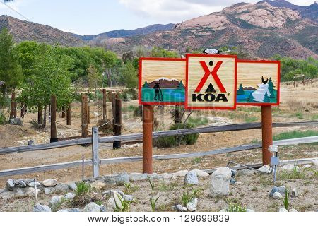 Koa Campground And Sign
