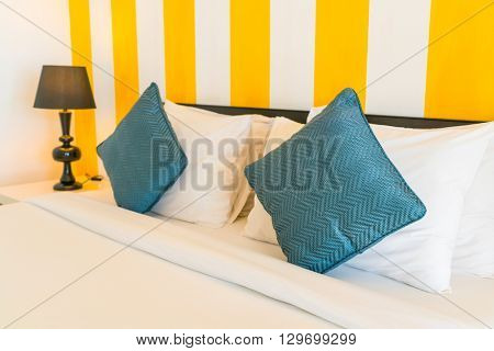 Comfortable pillows and bed