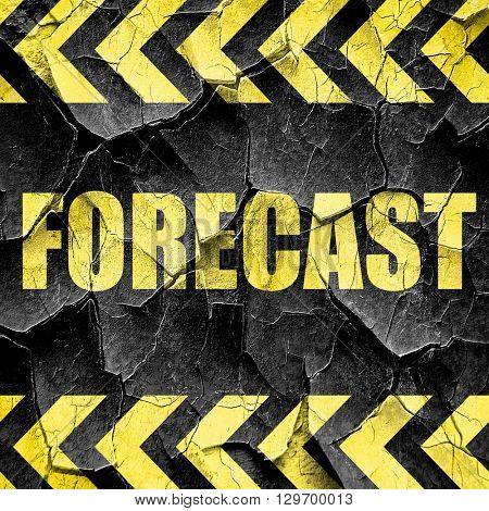 forecast, black and yellow rough hazard stripes