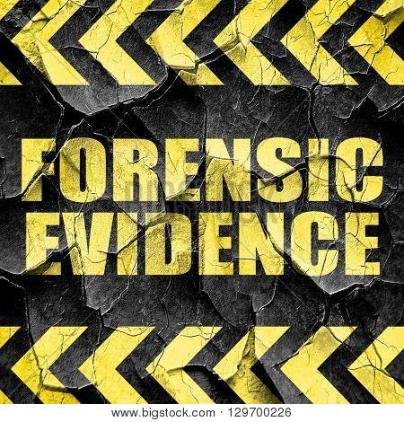 forensic evidence, black and yellow rough hazard stripes