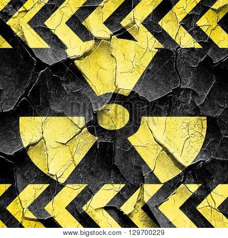 Nuclear danger background, black and yellow rough hazard stripes