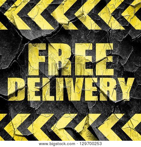 free delivery, black and yellow rough hazard stripes