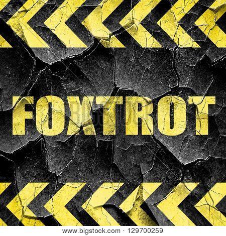 foxtrot, black and yellow rough hazard stripes