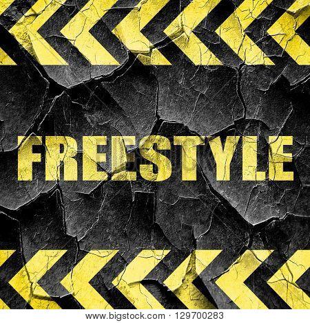 freestyle, black and yellow rough hazard stripes