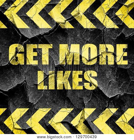 get more likes, black and yellow rough hazard stripes