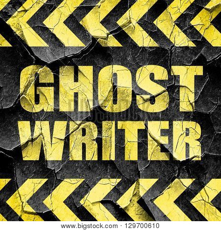 ghost writer, black and yellow rough hazard stripes