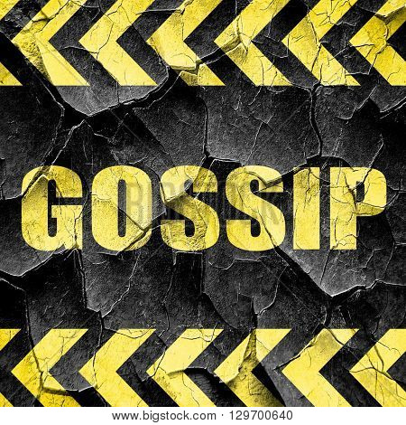 gossip, black and yellow rough hazard stripes
