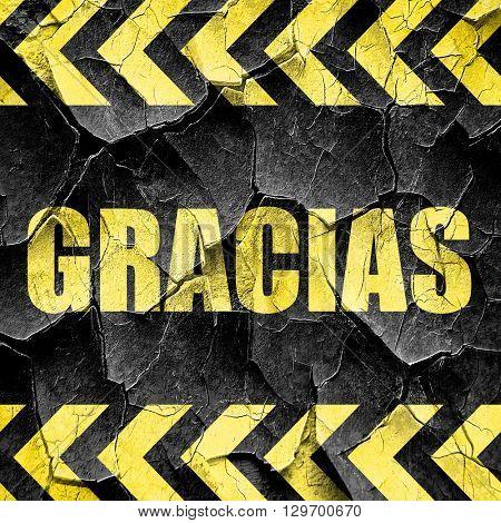 gracias, black and yellow rough hazard stripes