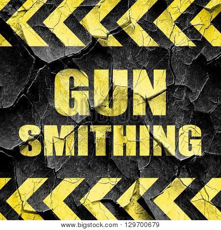 gun smithing, black and yellow rough hazard stripes
