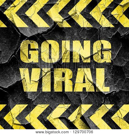 going viral, black and yellow rough hazard stripes