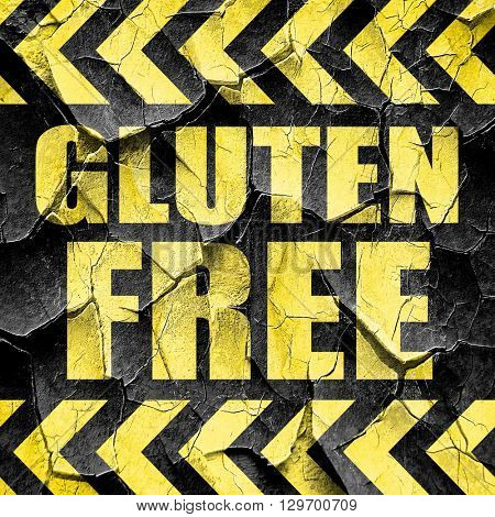 gluten free, black and yellow rough hazard stripes