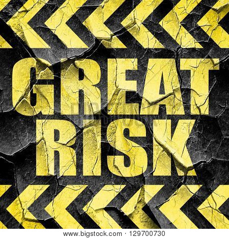 great risk, black and yellow rough hazard stripes