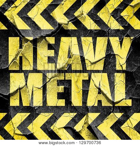 heavy metal music, black and yellow rough hazard stripes