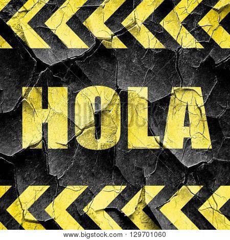 hola, black and yellow rough hazard stripes