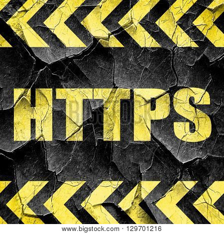 https, black and yellow rough hazard stripes