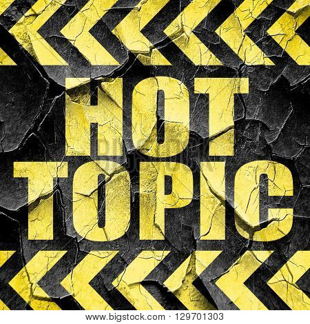 hot topic, black and yellow rough hazard stripes