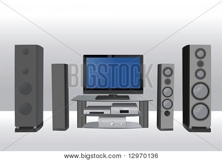home theater 6 vector