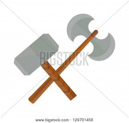 Medieval weapons vector illustration.
