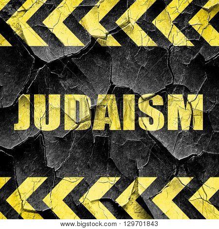 judaism, black and yellow rough hazard stripes