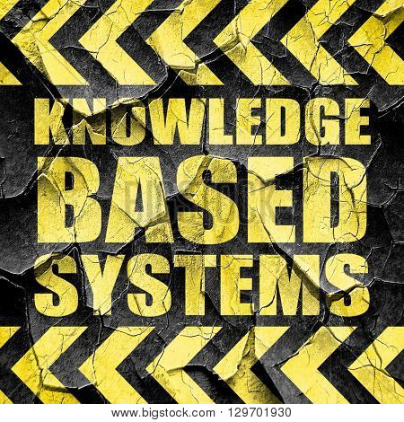 knowledge based systems, black and yellow rough hazard stripes