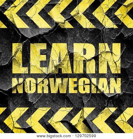 learn norwegian, black and yellow rough hazard stripes