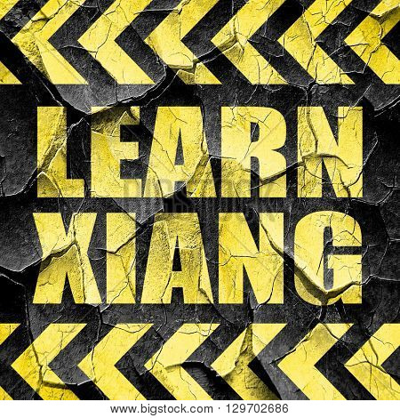 learn xiang, black and yellow rough hazard stripes