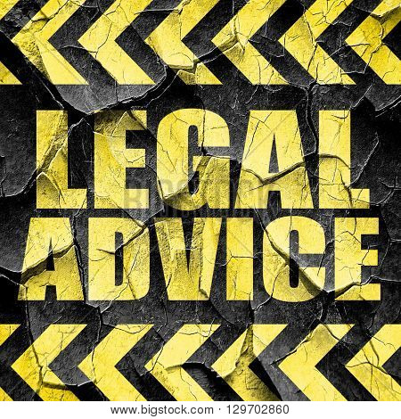 legal advice, black and yellow rough hazard stripes