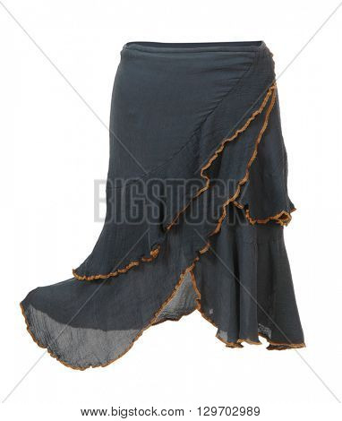 black skirt isolated on white background