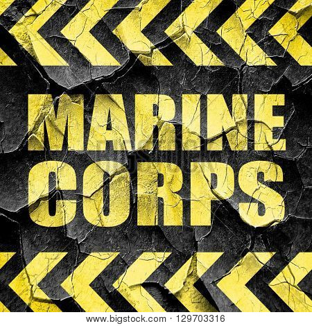 marine corps, black and yellow rough hazard stripes