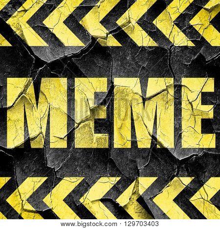 meme, black and yellow rough hazard stripes