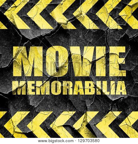 movie memorabilia, black and yellow rough hazard stripes