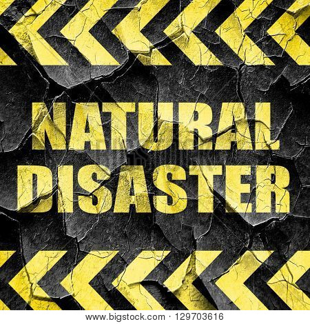 natural disaster, black and yellow rough hazard stripes