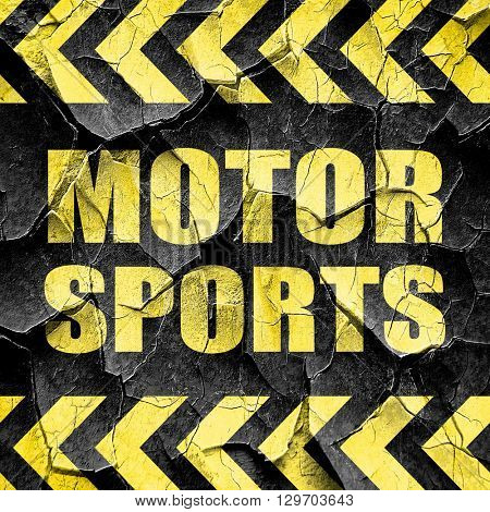 motor sports, black and yellow rough hazard stripes